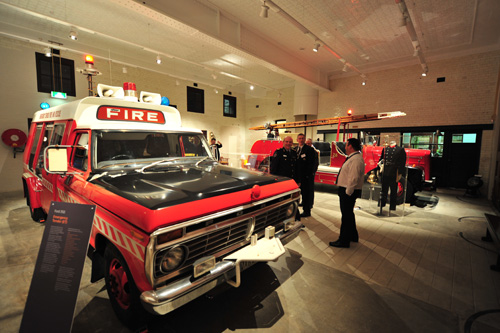 Fire trucks in DFES heritage centre