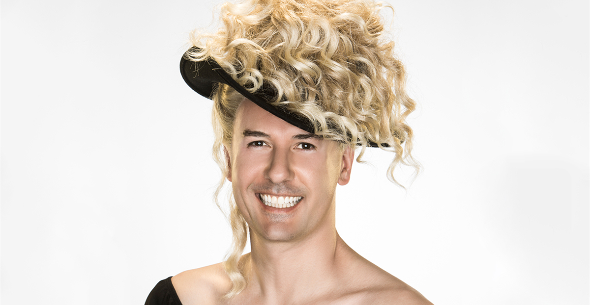 Michael Griffiths dressed as Kylie Minogue