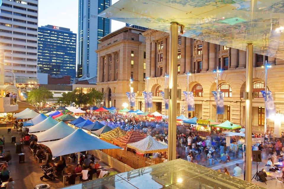 Twilight Hawkers Market from above