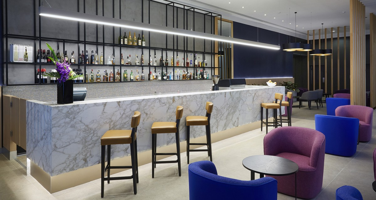 Lounge and bar area inside Mercure Hotel