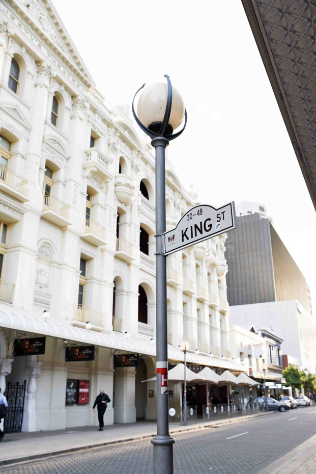 King Street sign with King Street in background