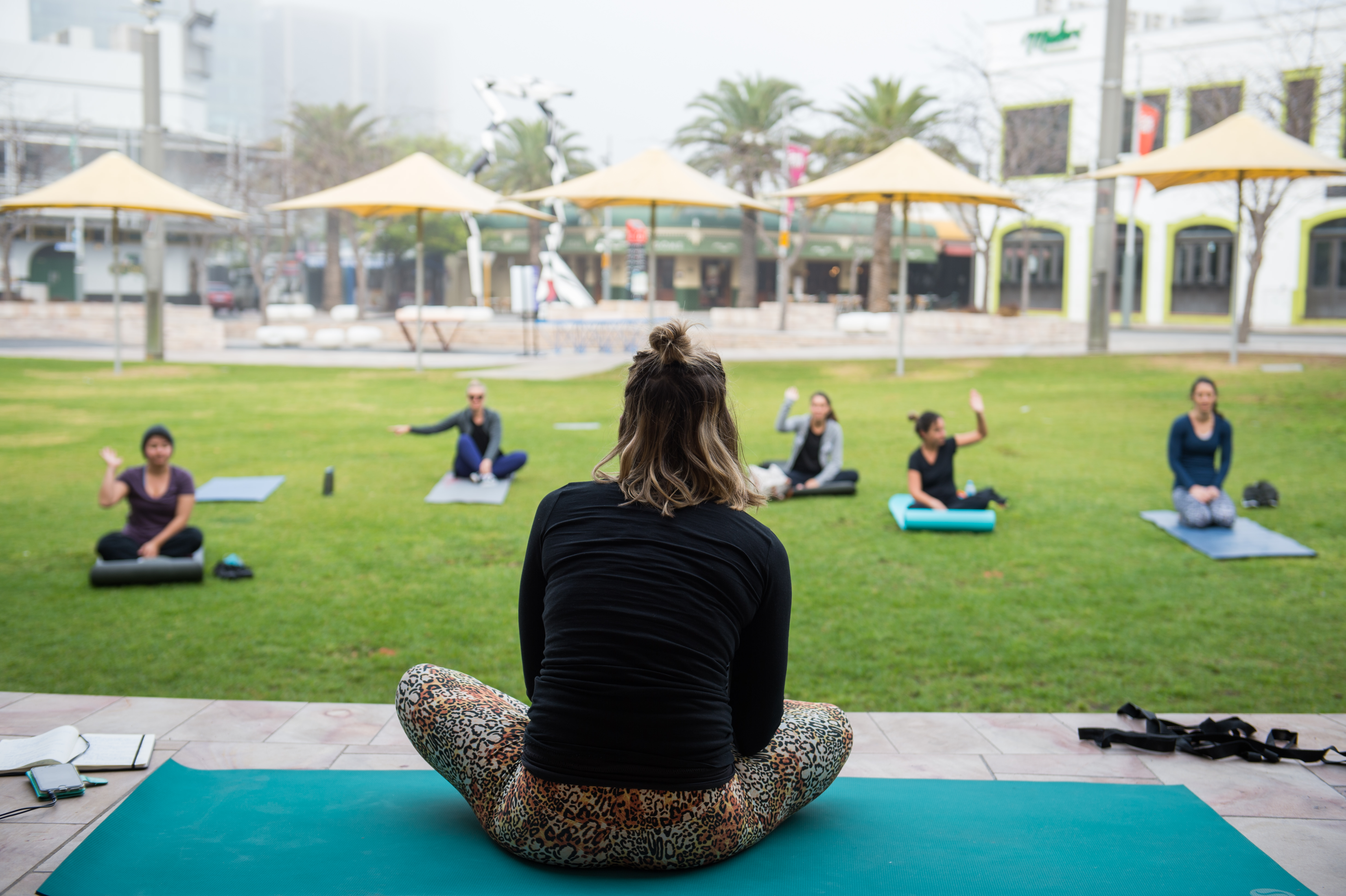 Yoga at the Northbridge Piazza is available during the Australia Day Long Weekend