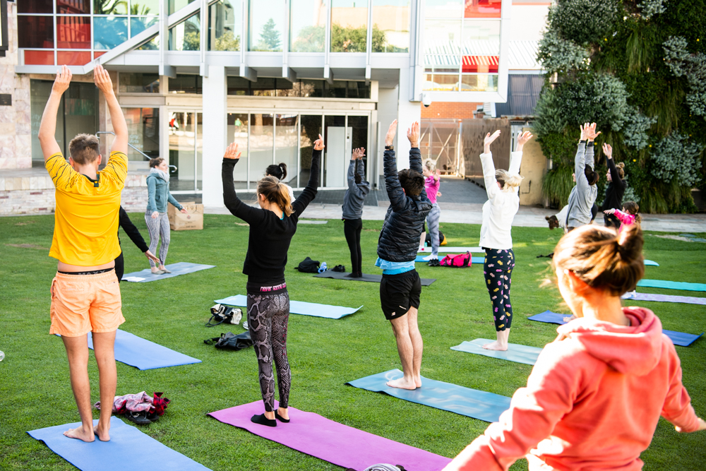 Yoga at the Piazza