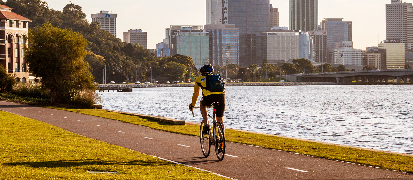 Plenty of cycle paths around Perth